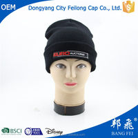 warm winter fancy embroidery knitted cap and hat