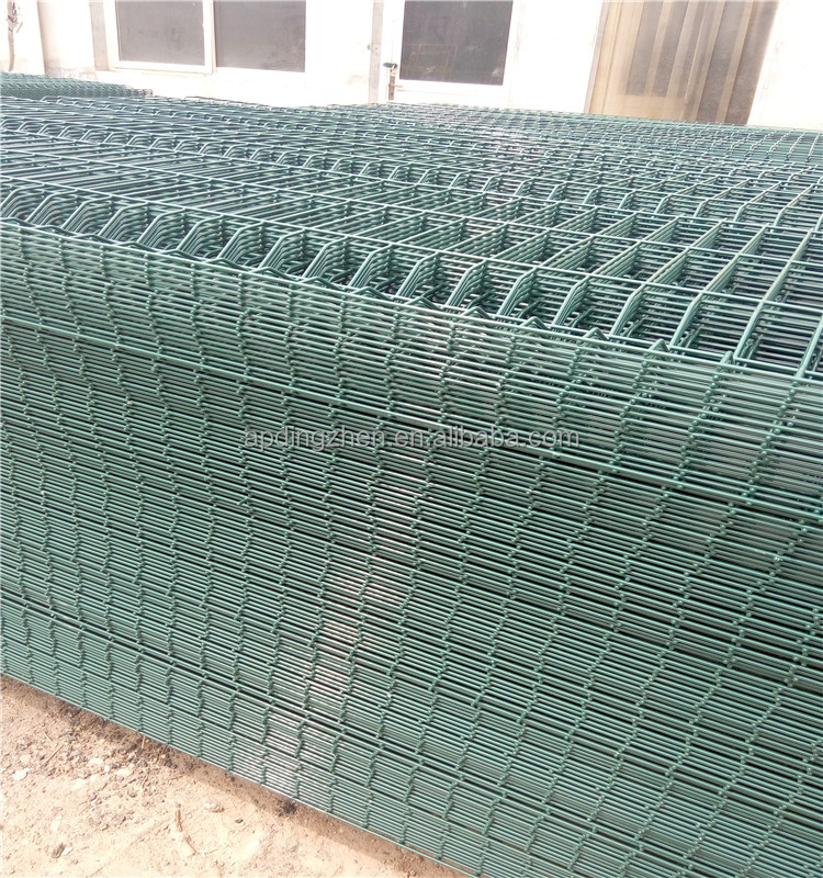 Plastic coated vinyl wire mesh fence fencing