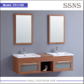 Plywood veneer sliding bathroom mirror cabinet