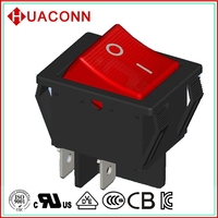 HS9-A-04K0L2-BR03 top quality classical car/boat on/off led rocker switch