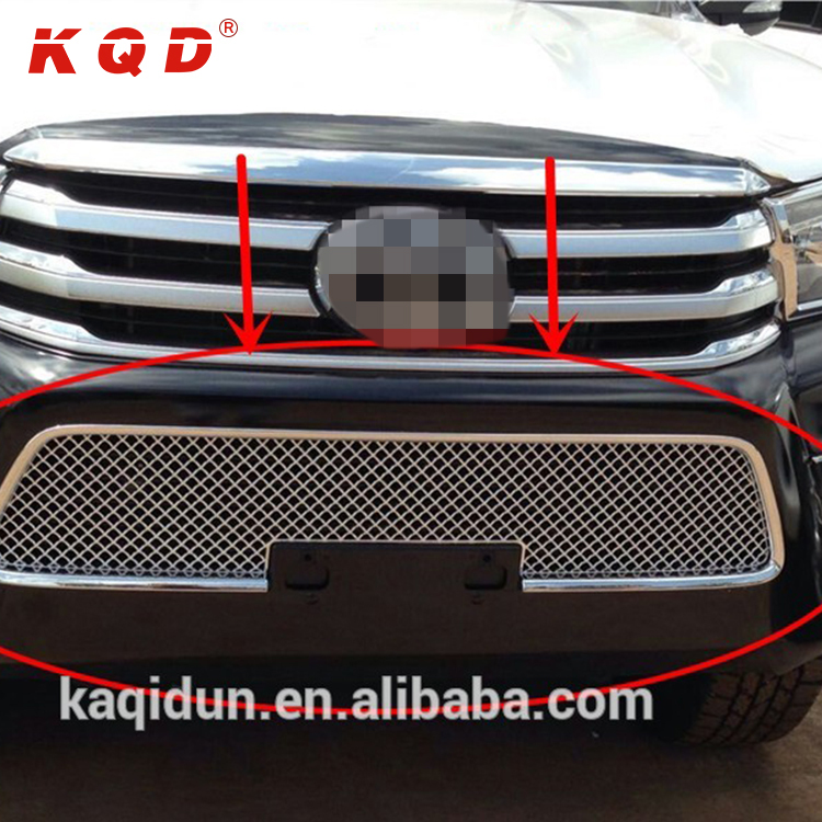 Auto accessories 3 colour optional chrome grille for toyota hilux revo