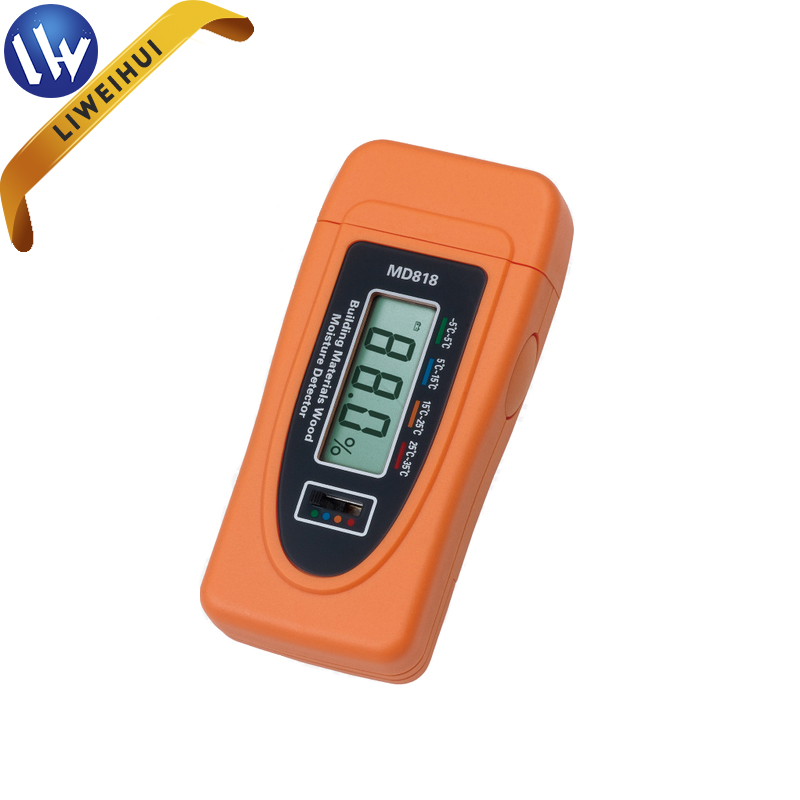 Mini moisture tester for bamboo objects damp meter to measure water content in wooden fiber articles moisture analyzer MD818