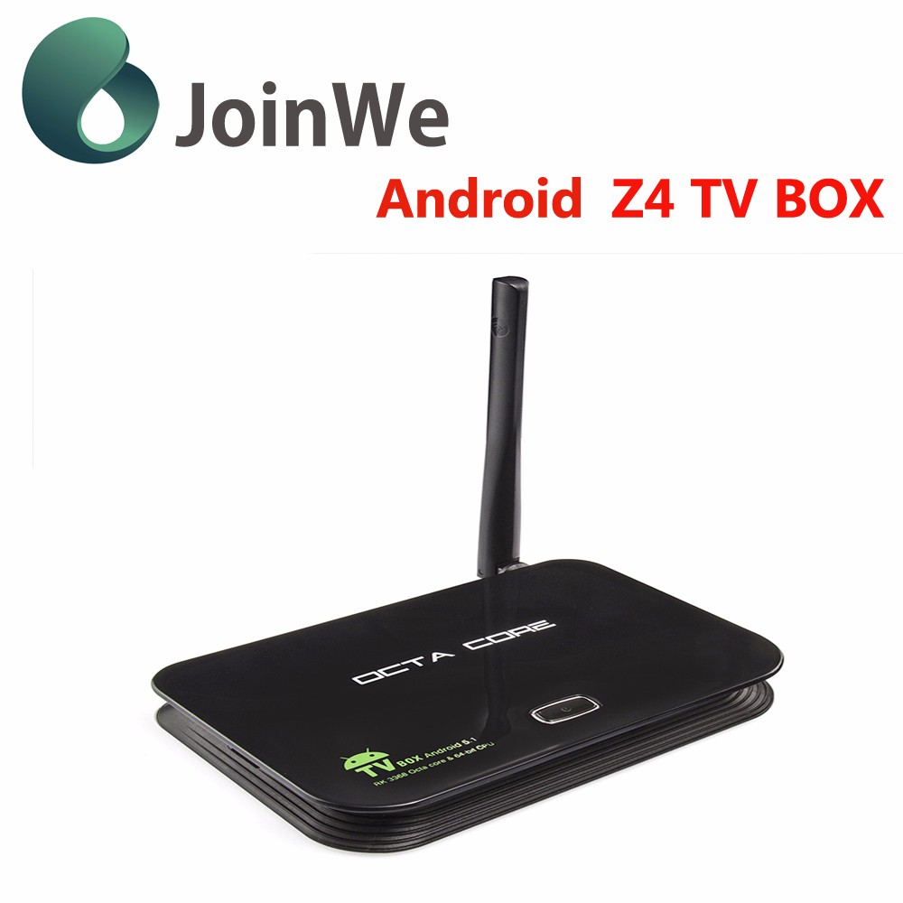 Joinwe 2016 Best Sell Internet Tv Set Top Box Z4 Android 5.1 Tv Box
