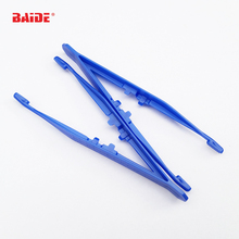 11 x 2.5cm Blue Plastic Tweezers Tongs Straight Head Tweezer Pliers for Med Kit DIY