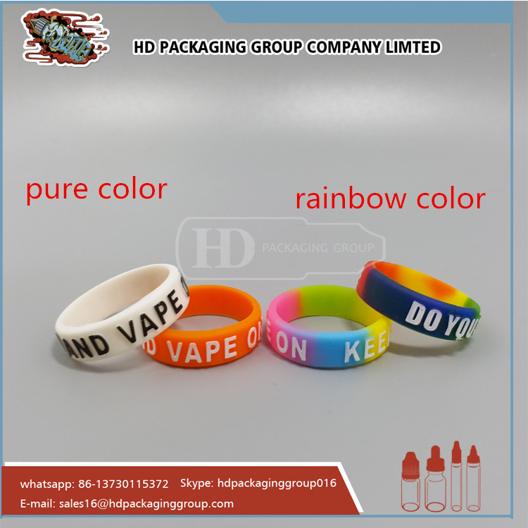 Promotional embossed logo customized silicone vape
