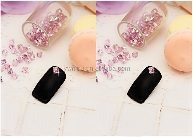 Bling Cube Beads Glass Colorful Rhinestones 3D Nail Art Decoration