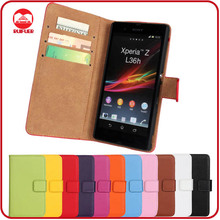 RF Manufacturer Wholesale Book Style With Card Slots Stand Wallet Flip Leather Case for Sony Xperia Z C6603 L36h
