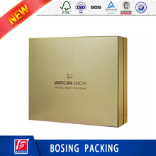 Gold Luxury Facial Skin Care Series Packaging Box For Wholesale