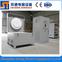 Customised high efficiency 1700C electric glass melting crucible furnace price