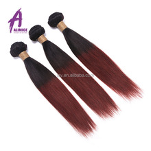Top Sale 7A Ombre Brazilian Human Hair Two Tone Colour 1b 99j Extensions 3pcs lot Straight Hair Products