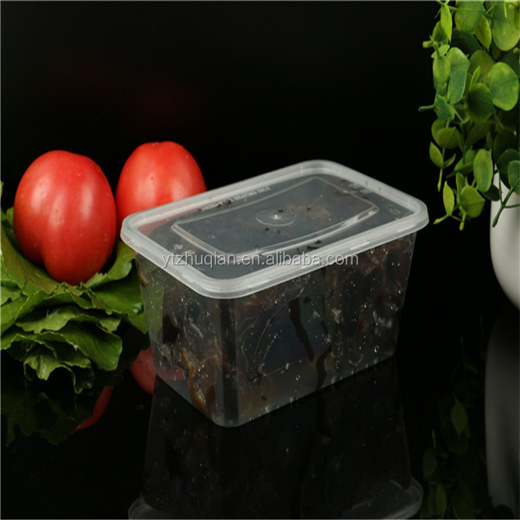 High quality transparent plastic food storage container take away pp lunch box