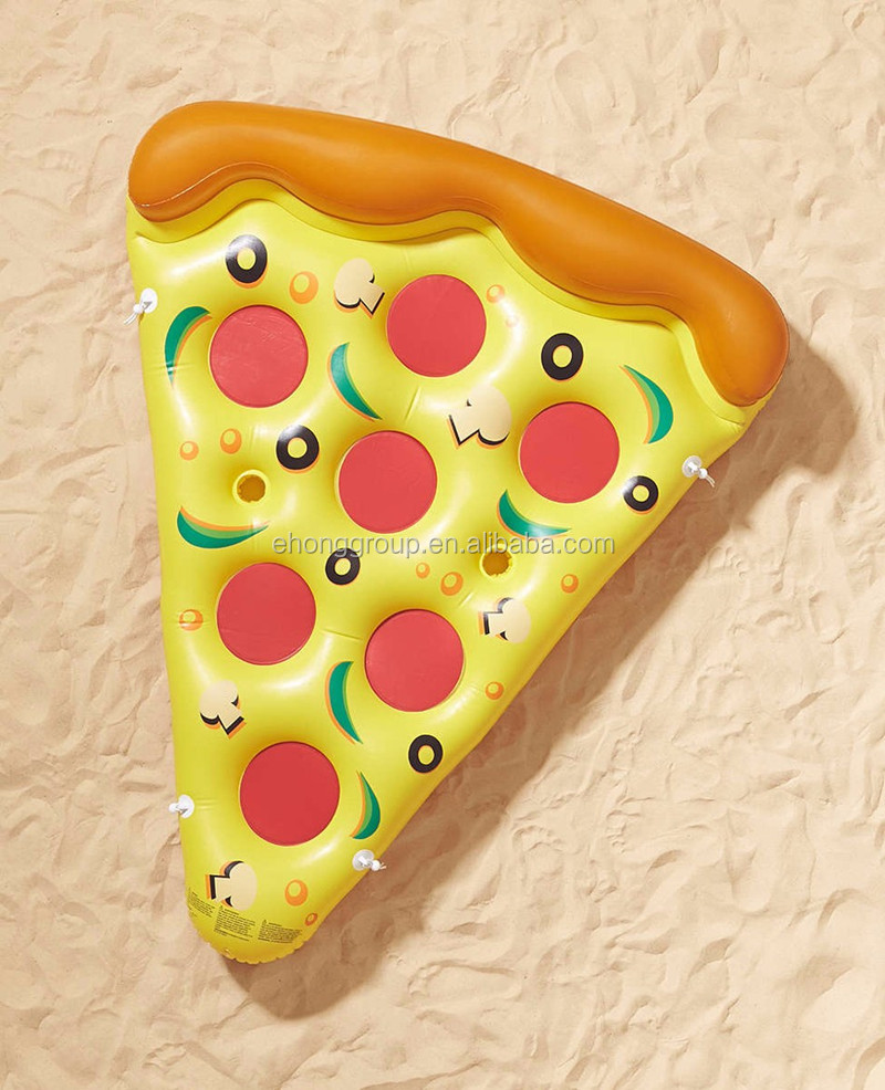 Custom made inflatable pool toys 180CM giant water float mat pizza swim ring swimming ring circle for adult