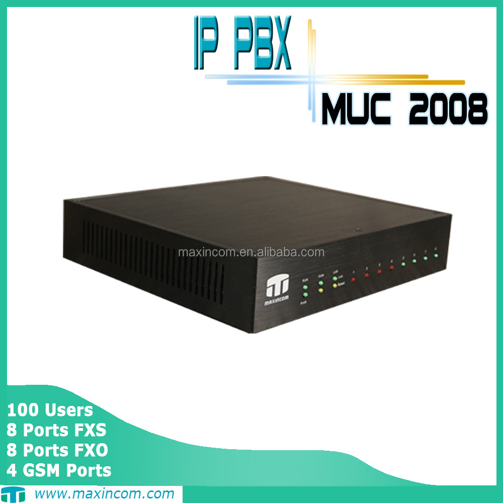 pabx telephone system with pabx wholesale price MUC2008 ip pbx system