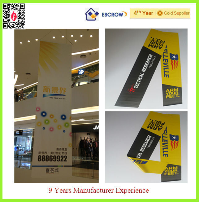 inkjet pvc vinyl banner double sided printing/flying double-side graphic banner printing