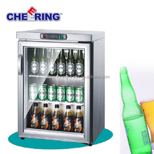 guangzhou manufacturer refrigeration equipment glass door mini countertop display freezer for bar