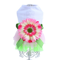 Amazon Product Dog Summer Gauze Tutu Dresses Pet Clothing