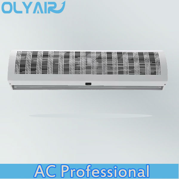 OlyAir plastic grille cross industral Air Curtain price from 90-150cm length remote control with install hight three meter