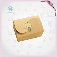2015 Hot Sale High Thickness White Card Paper Folding Lunch Box