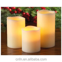 flameless led blow sensor candles,battery powered led wax candle light