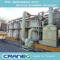 Eco friendly scrubber system to solve the problem of gas disposal