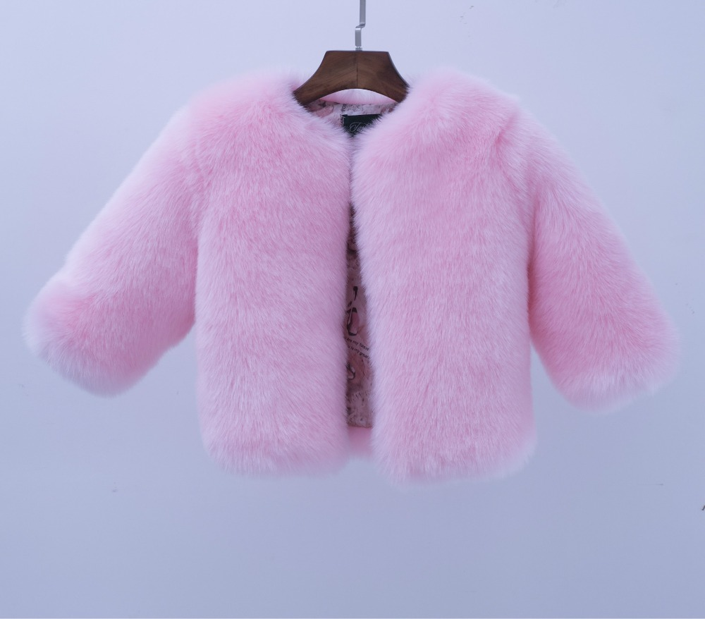 MS83621M kids girls thick faux fur coat 2016 winter