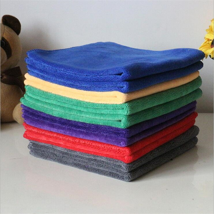 12 x 12 edgeless soft microfiber brushed towel for cars