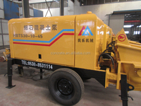 concrete conveying pumps 25m3/h trailer concrete pump, 10Mpa pumping pressure, 45kw motor power for hot sale