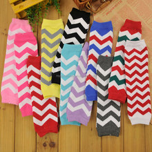 2017 Newest Christmas Zig Zag Cotton Chevron Baby Leg Warmers For Girls