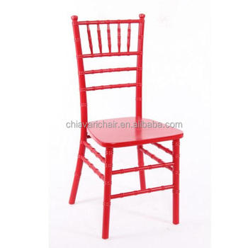 Chinese Solid Wooden Red Chiavari Chair with Red Cushion