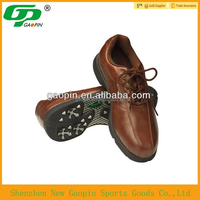 Handmade high quality leather /rubber golf shoes with cheap price