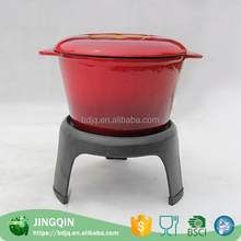OEM manufacture large outdoor enamel pots picnic camping cookware