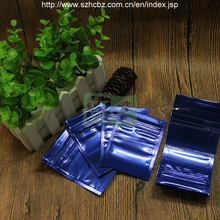 Aluminum Foil Mini Purple Color 7x11cm Plastic Zipper Bag
