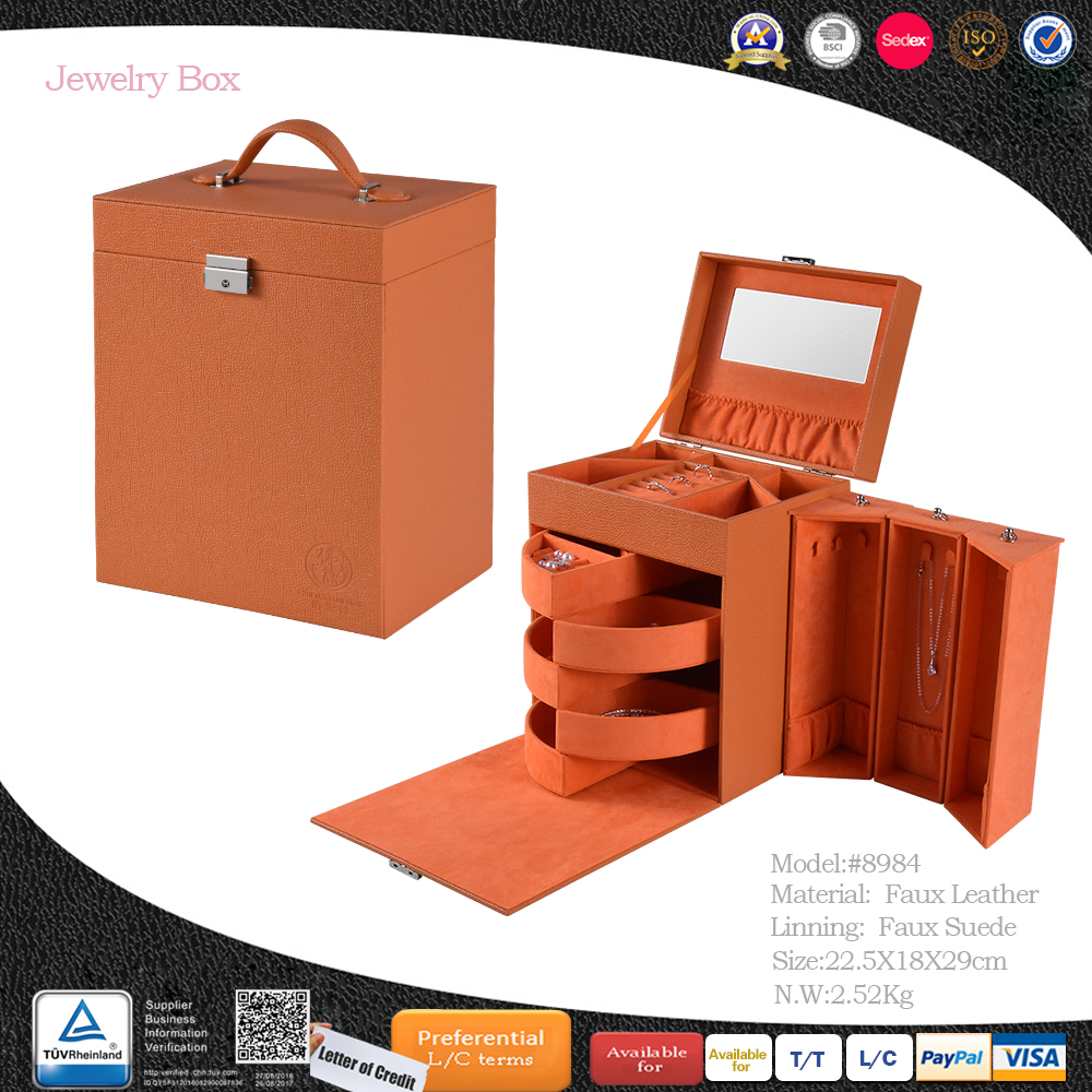 Wholesale customized fuax leather jewelry box