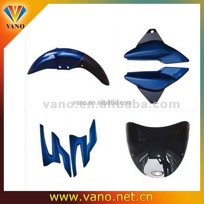 Blue color 135 discover motorcycle body plastic cover parts