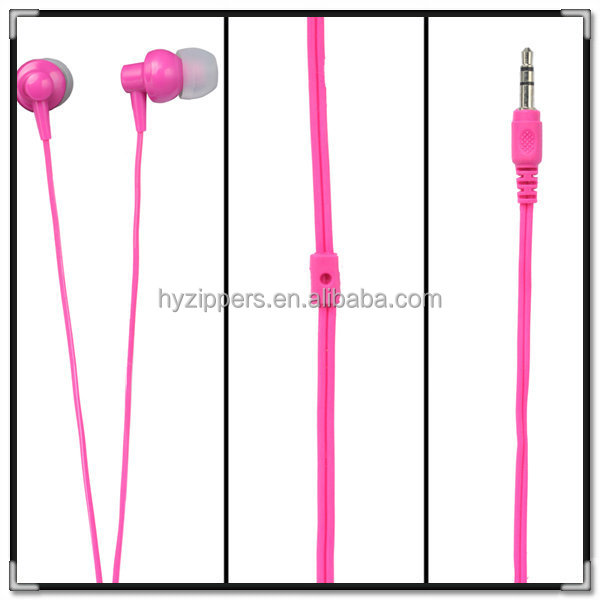 new product 2015 innovative product fancy plastic in ear earphones for mp3 mp4 player