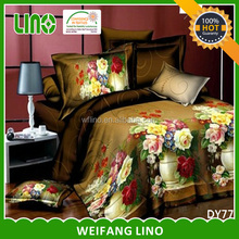 wholesale 3d polyester bed duvet printed 3d duvet cover set for home textile importers in usa