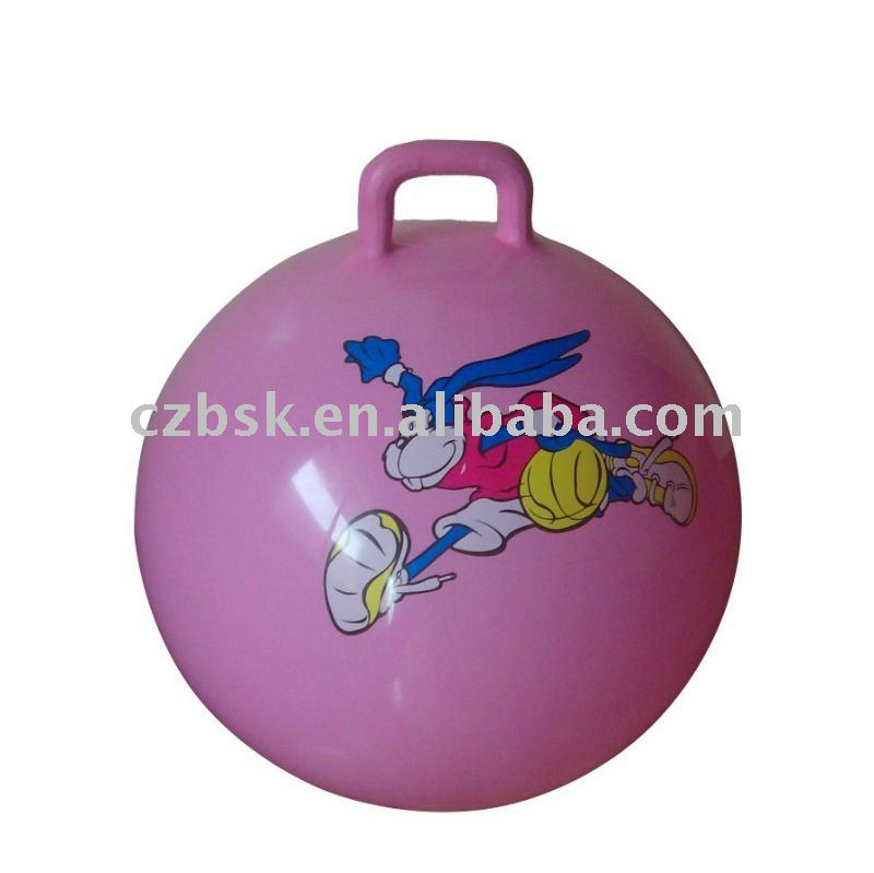 exercise ball with handle