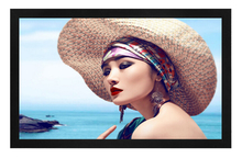 Wall hanging 3d silver fixed frame projection screen,projector screen for cinema