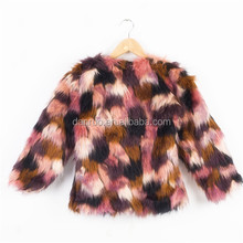 Faux fox fur short jacket female short design top plush jacket fur overcoat women's coats