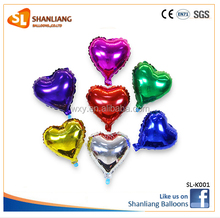 5 inch small heart shape Love wedding birthday party balloons decorated foil balloon