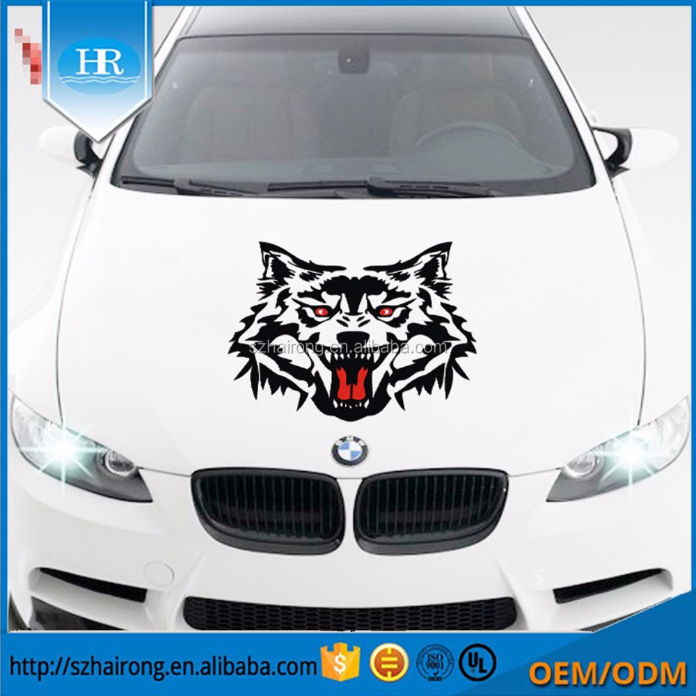 Custom design lovely fox 3d printing PVC vinyl reflective car logo sticker