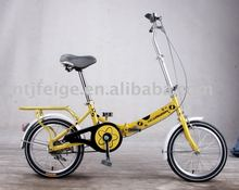 "16"" steel good quality yellow folding bicycle"