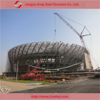 low cost steel structure dome roof steel pipe truss