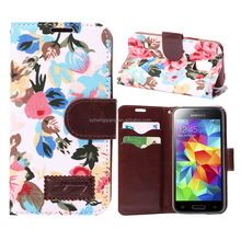 For Samsung Galaxy S5 mini case Hybrid Protective Stand Case / Cover-leather wallet