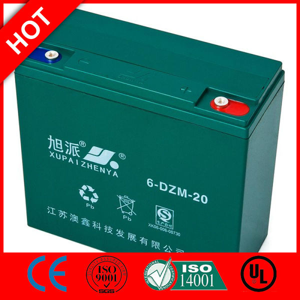 XUPAI Battery crystal battery for solar outdoor lighting pole lead acid battery sealed QS CE ISO
