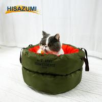 Hangzhou Hisazumi Wholesale luxury pet dog cat bed, memory fabric pet cat house, pet accessory