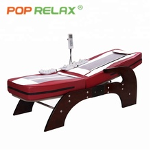 POP RELAX thermal korea music jade massage bed hot stone rolling nuga best therapeutic electric heating spine care massage bed