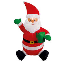 Commercial grade outdoor inflatable sitting santa
