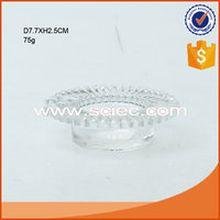 clear glass plate type candle holder wholesale candle stand