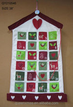 38 inches Factory Price Christmas Advent Calendar House Shape Christmas Wall Calender